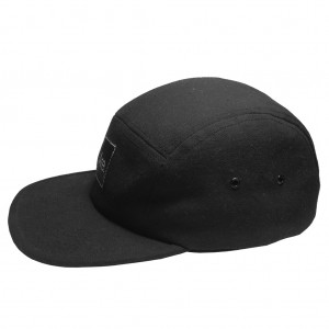 ARE. 5 PANEL CAP // SOLID BLACK