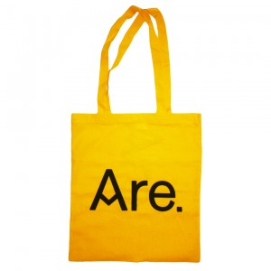 ARE. TOTE // YELLOW // LOGO