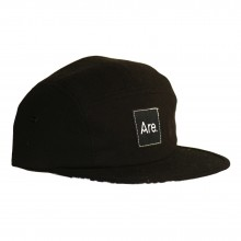 ARE. 5 PANEL CAP // BLACK - PAISLEY