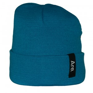 ARE. BEANIE // SIDE // AQUA