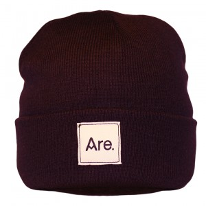 ARE. BEANIE // DARK BLUE // WHITE