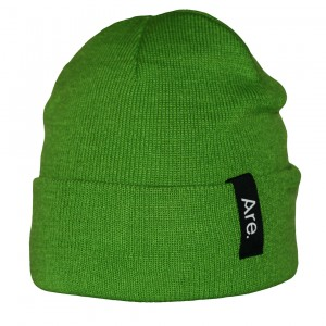 ARE. BEANIE // SIDE // LIME GREEN