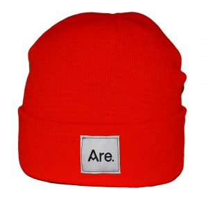 ARE. BEANIE // RED // WHITE