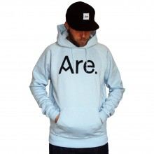 ARE. HOOD // LOGO // SKY BLUE //