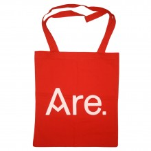 ARE. TOTE // RED // LOGO