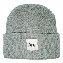 ARE. LOGO BEANIE // HEATHER GREY