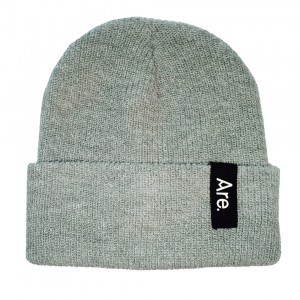 ARE. SIDE BEANIE // HEATHER GREY