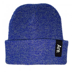 ARE. SIDE BEANIE // HEATHER NAVY