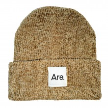 ARE. LOGO BEANIE // OATMEAL