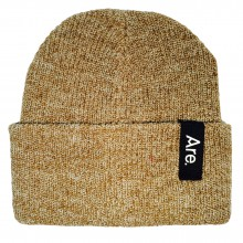 ARE. SIDE BEANIE // OATMEAL