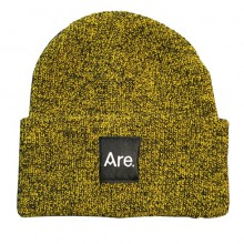 ARE. LOGO BEANIE // ANTIQUE MUSTARD