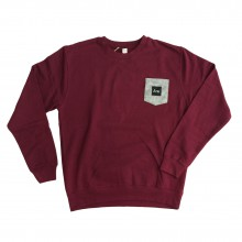 ARE. // SWEATSHIRT // BORDEAUX /w GREY POCKET