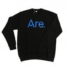 ARE. // SWEATSHIRT // BLACK  LOGO