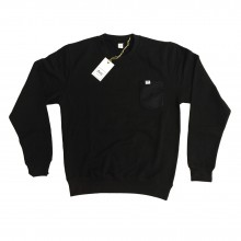 ARE. // SWEATSHIRT // BLACK /w BLACK POCKET